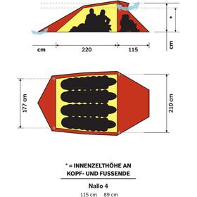 Hilleberg Nallo 4 Tente, red